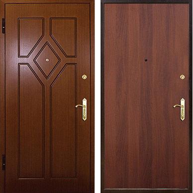 металлическая дверь с МДФ metala durvis ar MDF