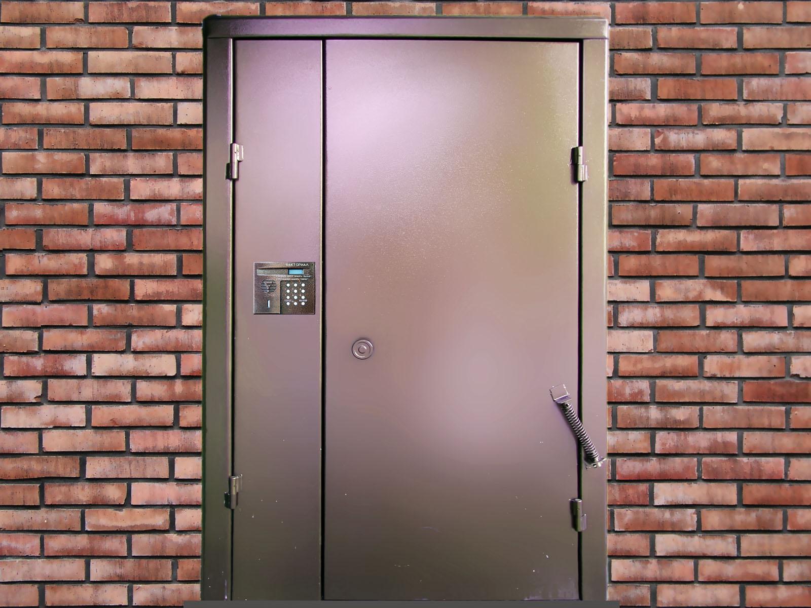 двери для подъездов с домофоном Olgalek