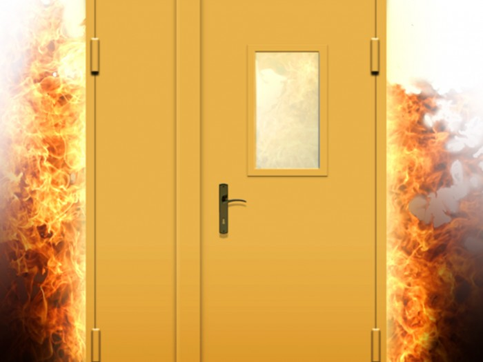 ugunsdrosas durvis
